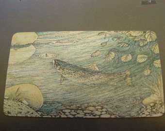 TROUT ---------  ink and  water-colour drawing