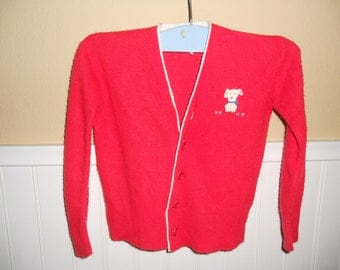 Vintage Red Baby Sweater