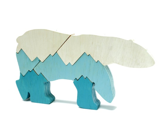 Children's Polar Bear Puzzle and Decor - Kids Eco Friendly Toy