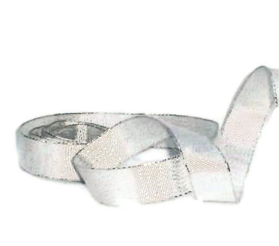 "Silver Sparkle Ribbon...7/8"" X  10 yards"