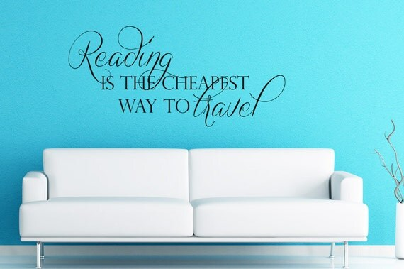 Reading room wall decor : Children wall decal nursery kids by