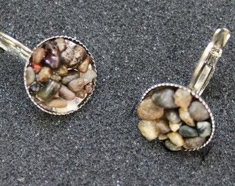 Rock Resin Earrings