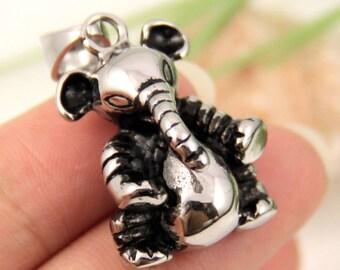 Baby elephant Stainless Steel Pendant