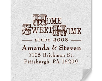 Personalized Address Stamp - Custom Stamps - Home Sweet Home - Housewarming - DIY Printing - Personalized Gifts - Country Style - Date Stamp