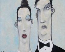 Happy Couple, pop surrealism, art, lowbrow, lowbrow art, married couple,