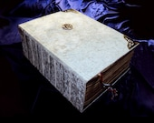 19x25 Traditionally Sewn Velvet Tome,Handbound Book of Shadows, Made to Order, Grimoire, Blank, SpellBook, vegan,pagan,wicca