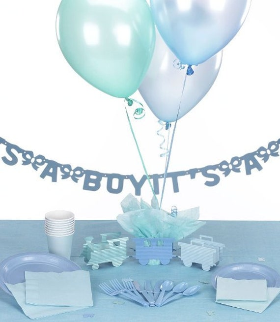 Items similar to train baby shower decorations kit for Balloon decoration kit