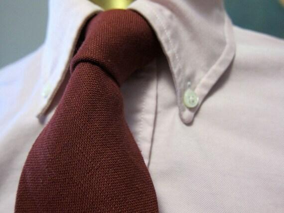 Vintage Brooks Brothers Maroon Linen Narrow Tie