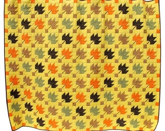 Autumn Leaves - king size quilt