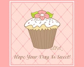 Birthday Card - Sweet Cupcake 2
