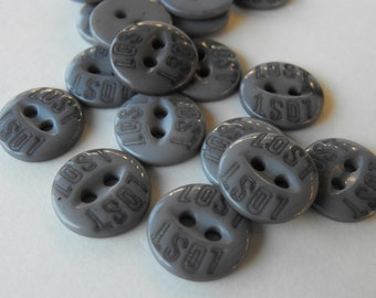 Dollar Sale 25 Ash Gray Lost Round Buttons Size 1/2""