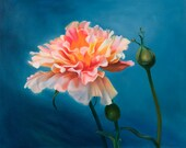 Painting Reproduction-Orange Rose -Gift of the Rose Collection- Open Edition-Passion- 8x10