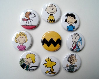 Peanuts Charlie Brown Pinback Buttons
