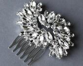 Rhinestone Bridal Hair Comb Accessory Wedding Jewelry Crystal Flower Side Tiara CM036LX