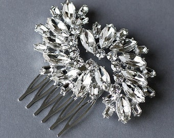 Rhinestone Bridal Hair Comb Accessory Wedding Jewelry Crystal Flower Side Tiara CM036LX