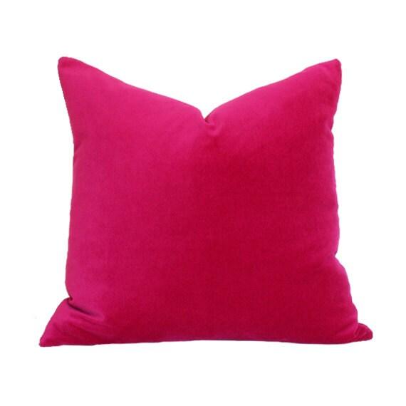 Magenta Velvet Designer Pillow Cover By Ariannabelle On Etsy