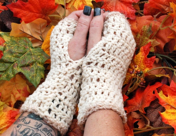 tan fingerless gloves free shipping