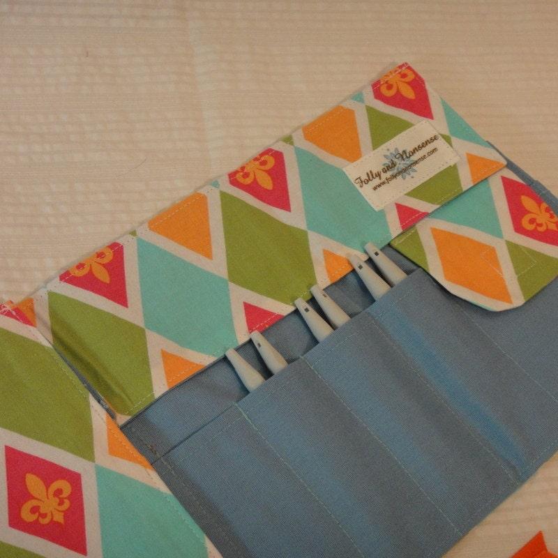 Fleur Interchangeable Knitting Needle Case by KnittingFollies