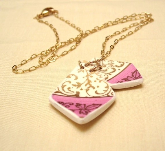 Royal Kites Necklace - Recycled China - Material and Movement