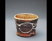 Wood-fired Stoneware Small Cup with Decorative Slip 2
