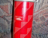 Vintage Tall Red Icy Hot Thermos -Great for Camping Picnics- Metal and Plastic