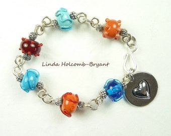 Bracelet of Southwest Lampwork Beads