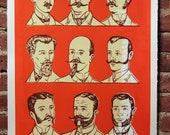 Facial Hair of the 20th Century Print Orange