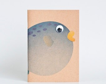 Kraft Notebook Pocket Booklet A6 - Blowfish