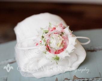 Newborn Cheesecloth, White Cheesecloth Baby Wrap SET, Cheesecloth, Baby Headband, Photo Prop, Cheesecloth Layer, Newborn Headband