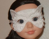 White Cat Mask for American Girl, BJD, and BFC Ink Dolls