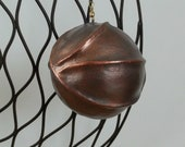 holiday ornament gunmetal gray copper Christmas ornament holiday decoration Christmas decoration industrial style ornament victorian style