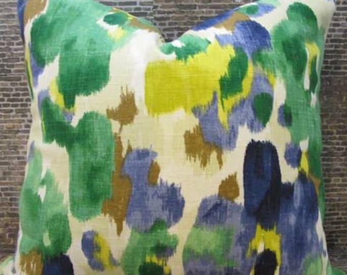 Designer Pillow Cover - 18 x 18, 20 x 20, 22 x 22 - Dwell Studio Landsmeer Ultramarine