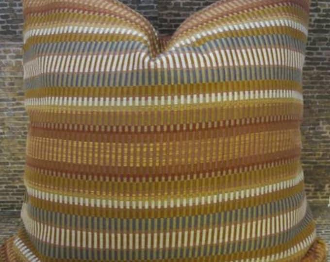 SALE Designer Pillow Cover - Sticks Jacquard Terra Cotta