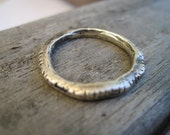 Sterling Silver Ring Artisan Rustic Stacking Ring Size 6 Ready to Ship