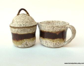 Ceramic Cream & Sugar Set // Handmade Pottery for Your Kitchen