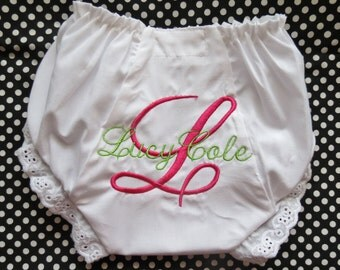 Personalized Bloomer/Diaper Cover