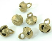 Brass Bells with Clapper from Nepal, Pregnancy Charm, 15x20mm