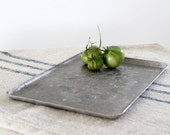 1930s Hammered Aluminum Tray // Vintage Everlast Tray