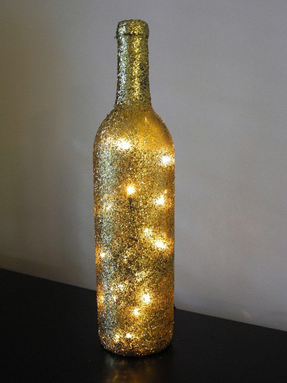 1 glitter lighted wine bottle wine bottle lamp bar light