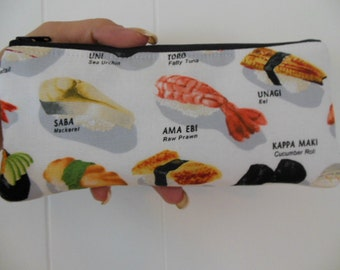 Sushi Please fabric Pencil Case