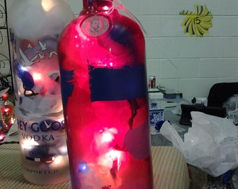 Absolute Vodka Bottle Bar/Table Lamp, EACH is ONE of a KIND