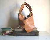 Large Slouchy Woven Hobo in Natural Tan Leather - Made to Order