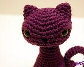 Spooky Feline Kitty Cat Amigurumi Plush