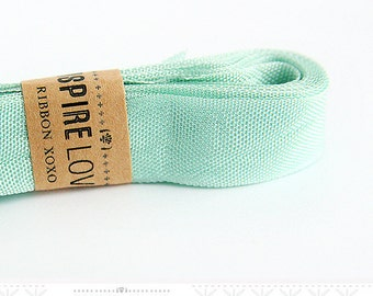 Vintage inspired Seam Binding ribbon xoxo- Aquamarine Blue