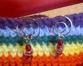 Spiral Crochet Stitch Markers (Set of 5)