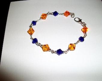 ORange and Blue bracelet/Go Gators