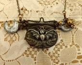 Vintage Bat Buckle Wrench Necklace