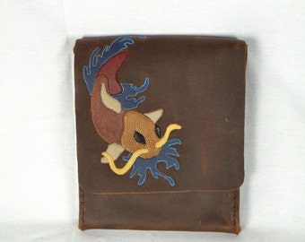 Koi Fish Vertical Messenger Bag