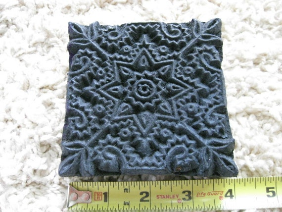 Very Detailed Square Wood Stamp