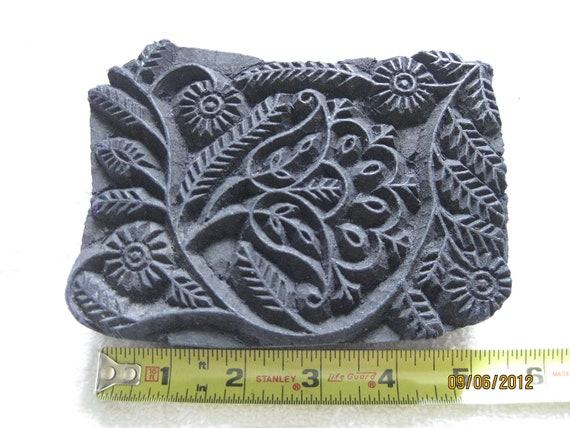 Large Wood Stamp  Perfect For Clay Impressions / Pottery / Fabric Stamping